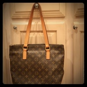 Authentic Louis Vuitton Monogram Cabas Piano bag